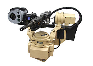 CROWS - M240 machine gun mounted in the Common Remotely Operated Weapon System.
