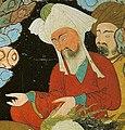 MAHOMA Y ABUBEKER EN LA CUEVA.- Miniatura turca. siglo XVII. Dresde, Biblioteca Nacional de Sajonia (Abu Bakr).jpg