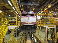 MBTA 1028 in the shop.JPG