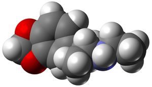 3,4-Methylenedioxy-N-ethylamphetamine - Image: MDEA 3D vd W