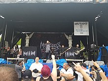 Motionless in White performing in 2018