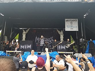 Motionless in White - Motionless in White performing in 2018
