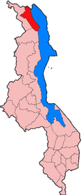 Location of Karonga District in Malawi