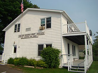 La Pointe (town), Wisconsin - The Madeline Island Post Office. The historic building used to be part of the Old Mission, which was the first Protestant mission on the island.