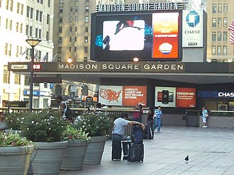 The Concert for Bangladesh - The Madison Square Garden marquee, pictured in 2011
