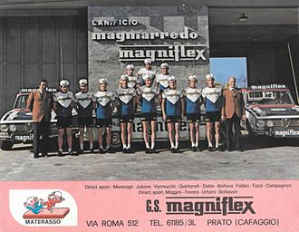 Magniflex (cycling team) - The Magniflex team of 1973