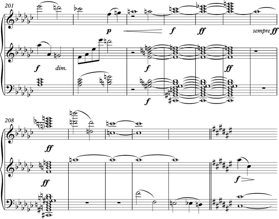Mahler 10 opening Adagio, bars 201-213