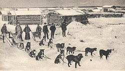 Mail team leaving Circle City for Ft. Gibson, Alaska, c.1900.jpg