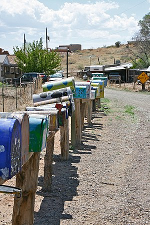 Galisteo, New Mexico - Mailboxes in Galisteo