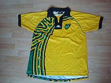 55c4eb1c09f0f Uniforme de la selección de fútbol de Jamaica - Wikipedia