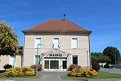 The town hall in L'Abergement-Clémenciat