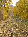 Malá Morávka, nádraží, výhybka na trať.jpg