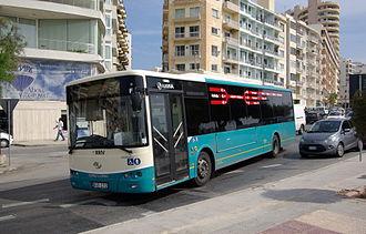 King Long - King Long Arriva Malta bus.