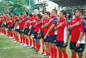 Philippines national rugby union team - The national team at the 2009 Asian Five Nations Division 3 Final.