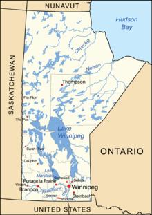 Manitoba Wikipedia - Map of manitoba canada