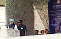 Manmohan Singh addressing at the dedication ceremony of the newly constructed railway line between Banihal (Jammu region)-Qazigund (Kashmir valley) section to the Nation.jpg