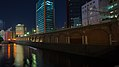 Manseibashi Viaduct & JR Kanda Manseibashi Building at night (2014-09-28 18.17.09 by superidoljp).jpg