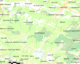 Mapa obce Montferrier