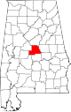 Map of Alabama highlighting Chilton County.svg