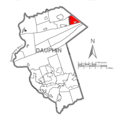 Map of Dauphin County, Pennsylvania Highlighting Williams Township.PNG