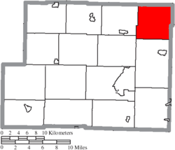 Location of German Township in Harrison County