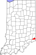 Map of Indiana highlighting Ohio County.svg