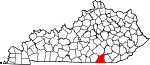 State map highlighting McCreary County