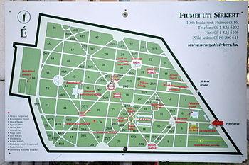 budapest farkasréti temető térkép Fiumei Úti Sírkert – Wikipédia budapest farkasréti temető térkép