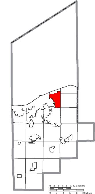 Sheffield, Ohio - Image: Map of Lorain County Ohio Highlighting Sheffield Village