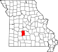 Map of Missouri highlighting Dallas County.svg