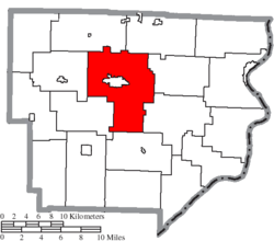 Location of Center Township in Monroe County