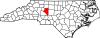 Locatie van Davidson County in North Carolina