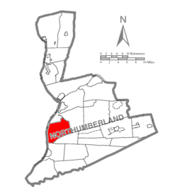 Map of Northumberland County Pennsylvania Highlighting Lower Augusta Township.PNG