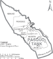Map of Pasquotank County North Carolina With Municipal and Township Labels.PNG