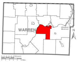 Location of Pleasant Township in Warren County