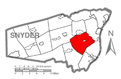 Map of Snyder County, Pennsylvania Highlighting Washington Township.PNG