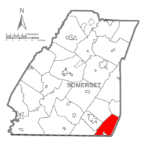Map of Somerset County, Pennsylvania Highlighting Southampton Township
