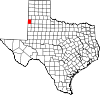 State map highlighting Bailey County