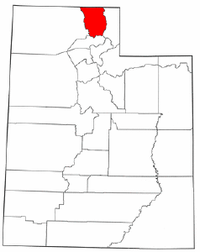 Map of Utah highlighting Cache County.png