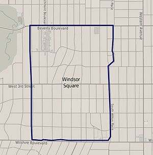 Windsor Square, Los Angeles - Windsor Square boundaries, from the Los Angeles Times