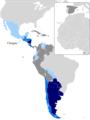 Mapa - Paises voseantes2011.png