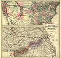 Maps showing the Atlantic & Pacific Railroad and leased lines. LOC 98688585.jpg