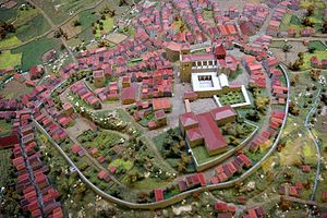 Casa do Infante - A diorama of the medieval village of Porto with Sé Cathedral and Casa do Infante