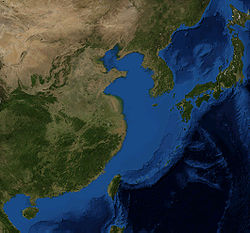 Image satellite de la mer de Chine orientale (au centre).