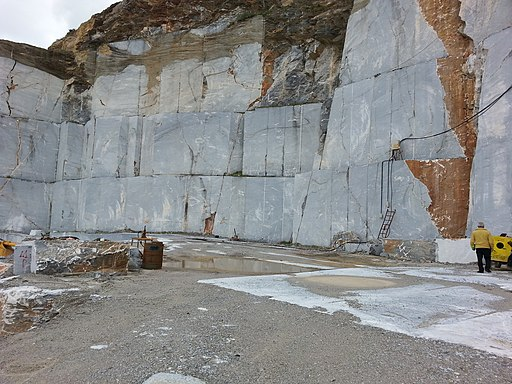 Marble quarry in evia greece