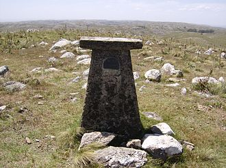 Cerro Catedral (Uruguay) - A geodetic mark that indicates the summit