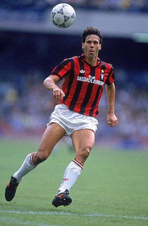 History of A.C. Milan - Marco van Basten was part of the Dutch trio that brought glory back to Milan.