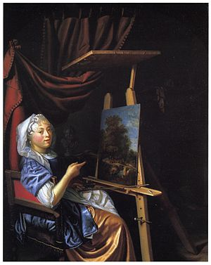 Maria Schalcken - Self-portrait