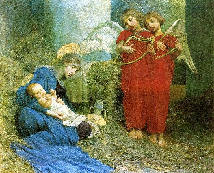 Archivo: Marianne Stokes - Ángeles entreteniendo al Santo Niño.jpg