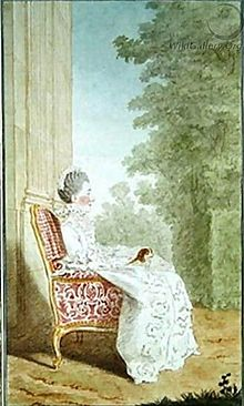 "Marie Christine de Rouvroy (1728-1774), Princess Charles Maurice of Monaco, ""Countess of Valentinois"" by Carmontelle.jpg"